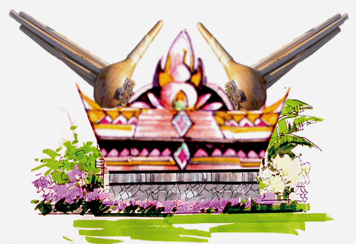 拉祜族景观小品雕塑设计