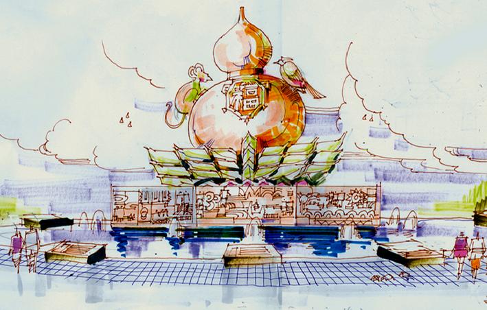 拉祜族主题雕塑设计方案
